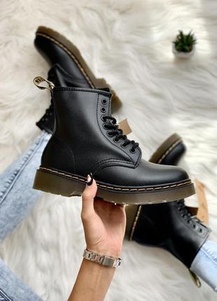 Женские кожаные ботинки dr. martens 1460 bex черного цвета 😍 (...