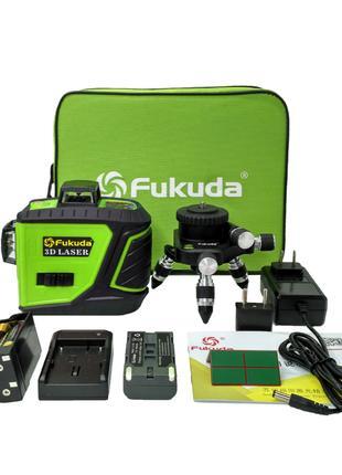 Лазерный уровень Fukuda 3D green MW-93T-2-3GJ макс. комплектация