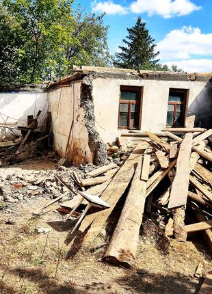 Демонтаж,снос старых зданий, гаражей,домов.Демонтаж сарая,стены.