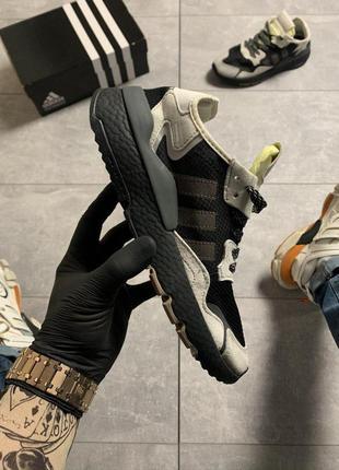 Adidas nite jogger black beige