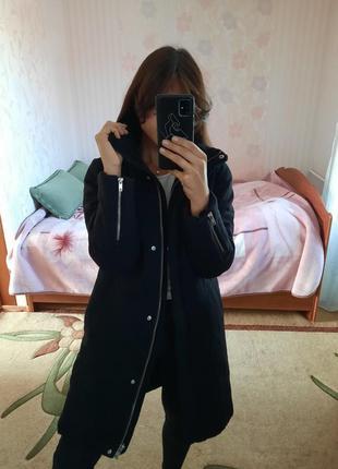 Шикарная куртка на зиму, тёплая длинная куртка , парка , на пуху