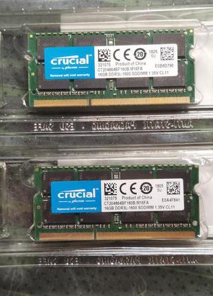 ОЗУ Crucial SODIMM DDR3L-1600 16GB (CT204864BF160B)