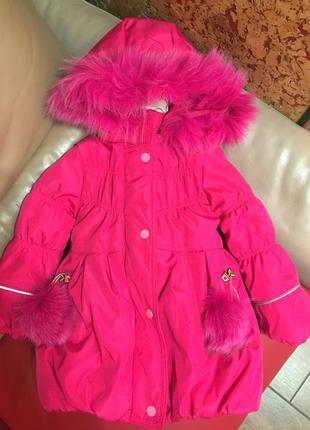 Детская классная водоотталкивающая куртка осень-зима на девочк...