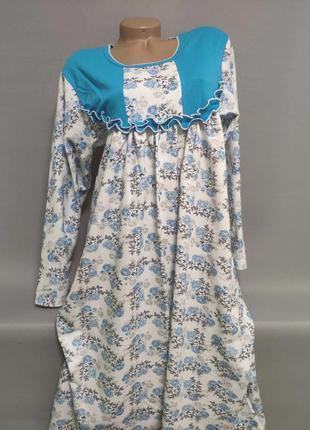 Ночная сорочка женская байковая больших размеров
