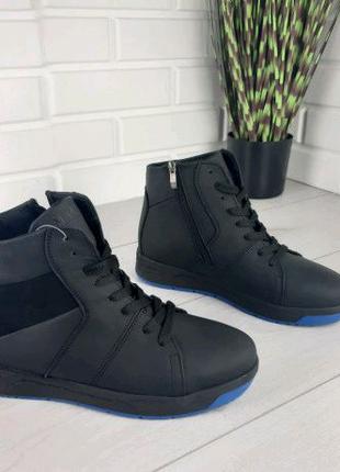 Мужские ботинки зимние из натуральной кожи