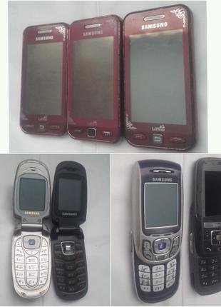 Мобільні телефони Samsung S5230 , X480 , X650 , E820 , D600 .