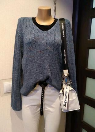 Тонкий стильный джемпер свитер кофта пуловер