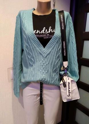Стильный брэндовый джемпер свитер кофта пуловер