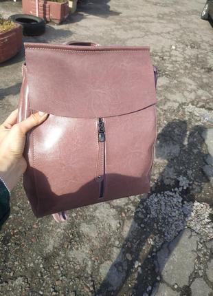 Сумка-рюкзак (трансформер)кожа