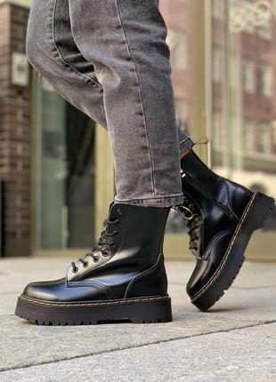Женские ботинки dr. martens jadon черный цвет демисезон (36-40)