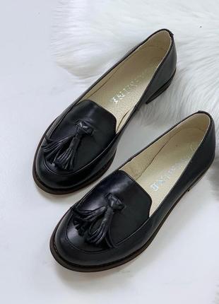 Лёгкие низкие туфли из натуральной кожи