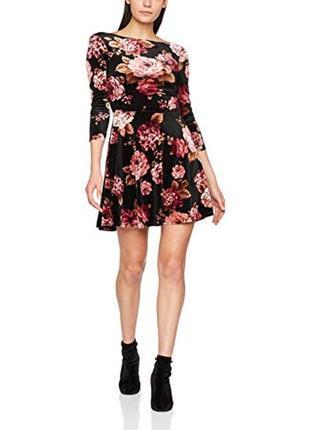 Велюровое вечернее платье new look(  размер 12)