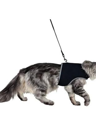 Шлейка мягкая с поводком Soft для кошек с обхватом груди 24-42см