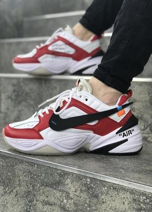 Крутые мужские кроссовки найк nike m2k white red.