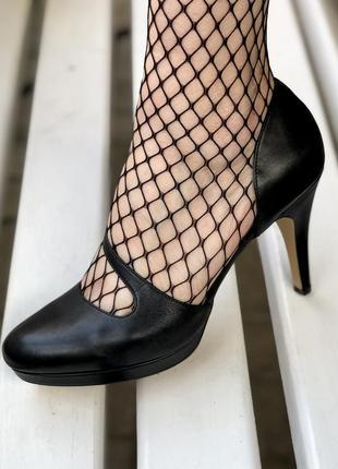 Черные кожаные туфли большого размера roberto santi