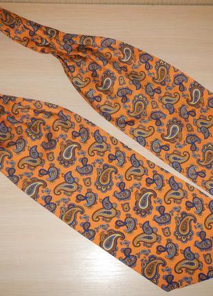 Аскот шейный платок галстук 100% шелк италия