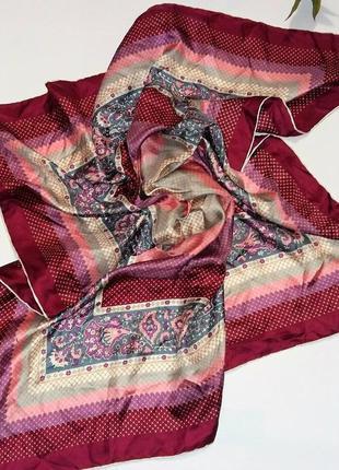 Винтажный шелковый платок подписной m. me marc