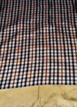 Винтажный  люксовый стильный шелковый платок /4289/