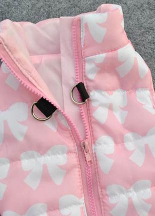 Жилет розовый на синтепоне размер М. Одежда для собак