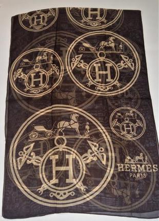 Шифоновый красивый шарф стиль hermes