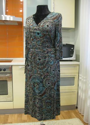 Яркое, удивительное натуральное платье, вискоза (трикотаж) !!!