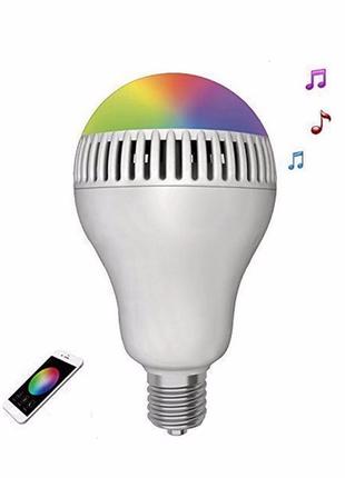 Умная Музыкальная Смарт Лампа. Лампа смарт с Bluetooth динамиком.