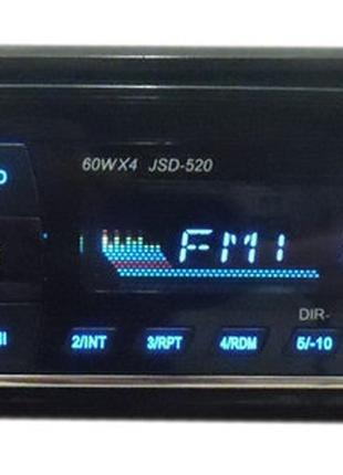 Магнитола Pioneer JSD-520 Bluetooth +USB+SD+AUX Мощность 4*60 Вт