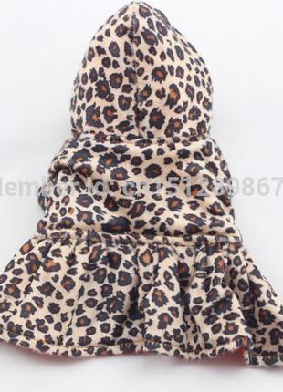 Пальто двустороннее с капюшоном.Одежда для собак.