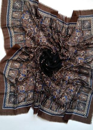 Шикарная ультратонкая шаль шерстяной платок италия 100% шерсть