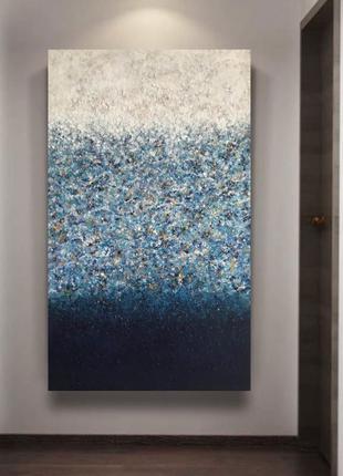 Картина интерьерная, объемная, абстракция, 70х120см