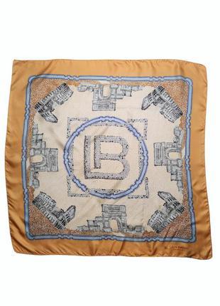 Стильный модный шелковый платок laura biagiotti италия /1165/