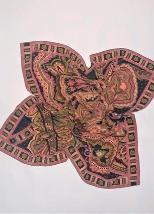 Шикарный шелковый платок christian fischbacher