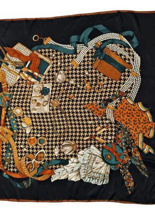 Винтажный шелковый платок /1618/