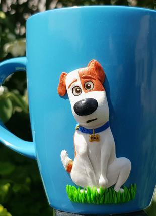 Кружка МАКС 2.0 (Тайная жизнь домашних животных) полимерная глина