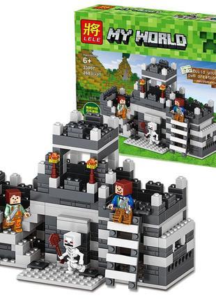 Конструктор Lele 33007 Minecraft Майкрафт Башня неприступная креп