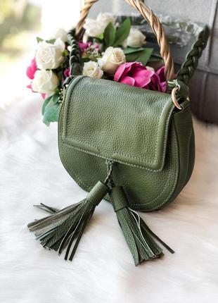 Кожаная женская сумка натуральная кожа
