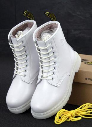 👢 женские зимние ботинки dr. martens 1460 mono иск. мех (арт. ...
