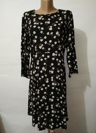 Платье модное вискоза цветочный принт peacocks uk 14/42/l