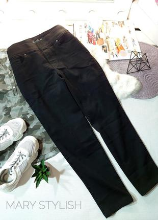 Женские джинсы джеггинсы черные