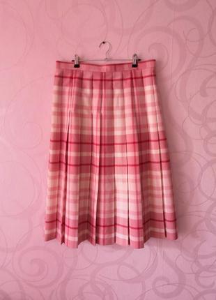 Плиссированная юбка в клетку, винтаж, ретро, большой размер