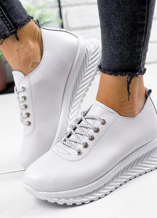 Белые кожаные кроссовки, женские кожаные кроссовки, кроссовки ...