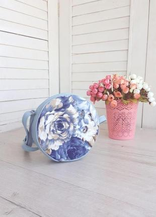 Цветочный принт круглая сумка