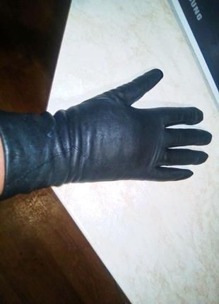 Кожаные перчатки женские размер 7