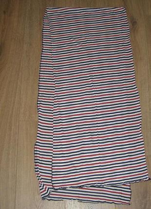 Трикотажный шарф в полоску