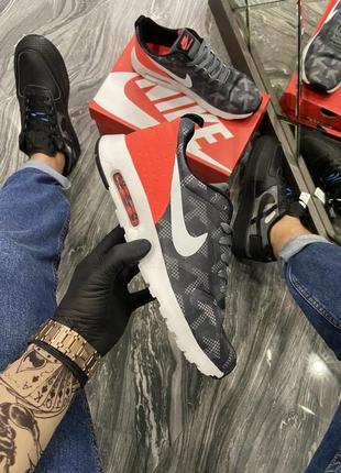 Крутые мужские кроссовки nike air max tavas grey red