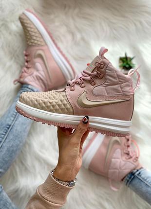 Nike lunar force 1 duckboot 17 pink женские кроссовки 36-40