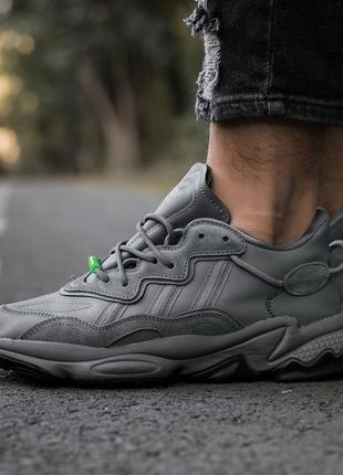 Adidas Ozvego «Dark Grey/Green""