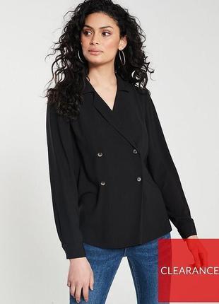 Блуза-пиджак черного цвета 14 р. By very