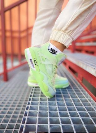 "💥Nike Air Jordan 4 Retro Off-White ""Neon Green""💥"