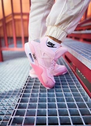 "💥Nike Air Jordan 4 Retro Off-White ""Pure Pink""💥"